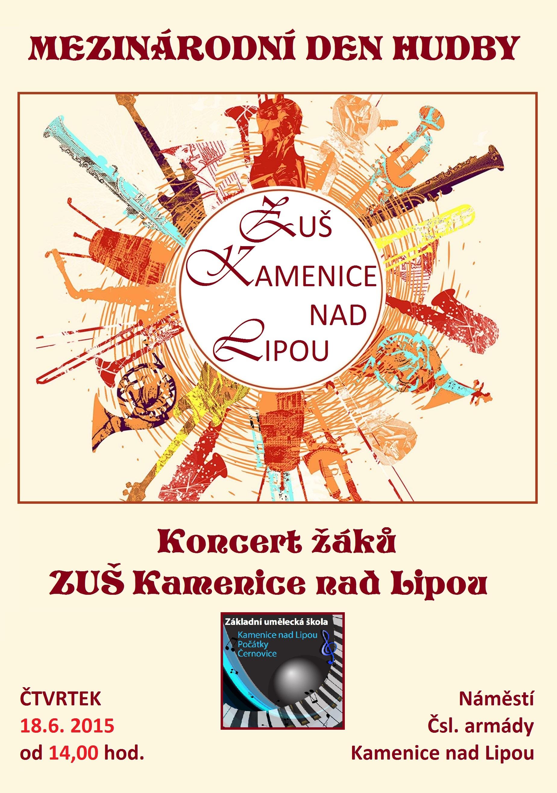 18.6.2015 - Mezinárodní den hudby v Kamenici nad Lipou