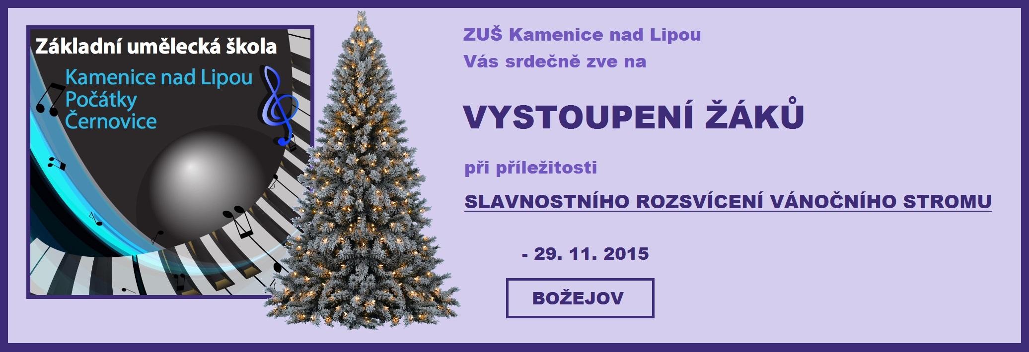 29. 11. 2015 - ROZSVÍCENÍ VÁNOČNÍHO STROMU - BOŽEJOV