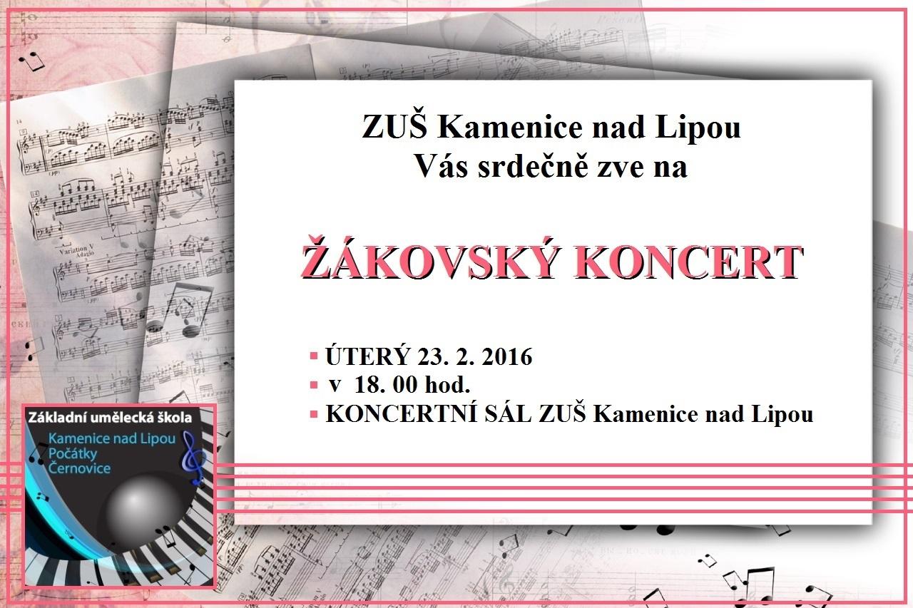 23. 2. 2016 - ŽÁKOVSKÝ KONCERT KAMENICE NAD LIPOU