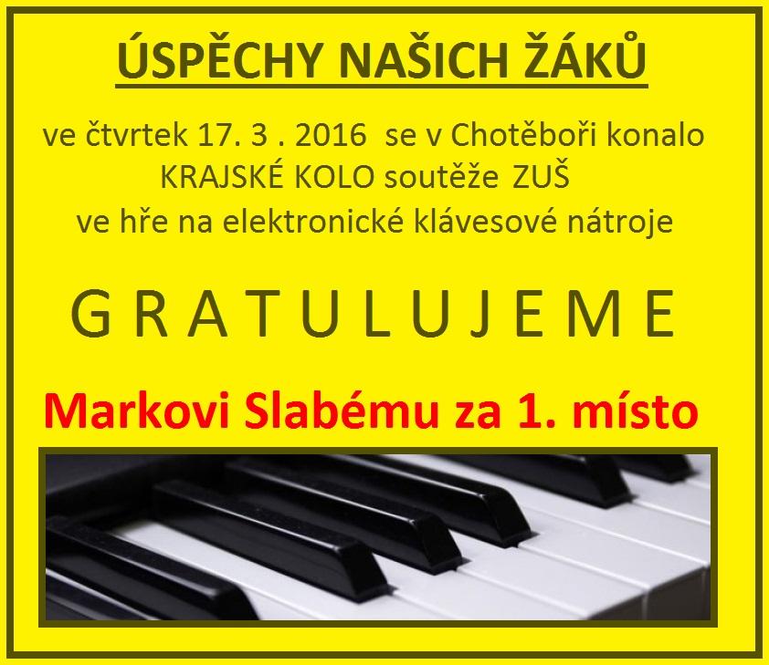 KRAJSKÉ KOLO - HRA NA ELEKTRONICKÉ KLÁVESOVÉ NÁSTROJE  - 17. 3. 2016