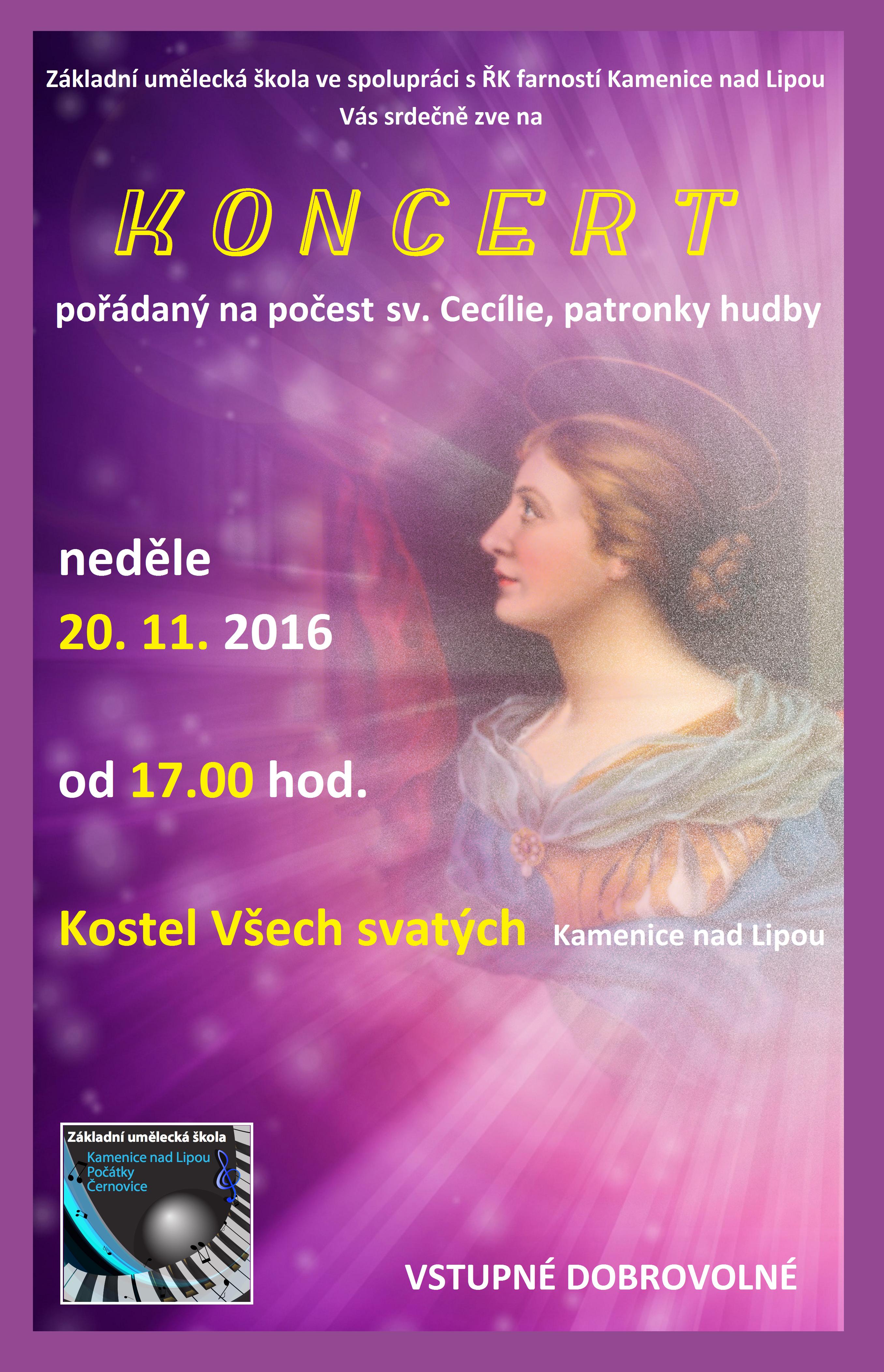 20. 11. 2016 - KONCERT - KAMENICE NAD LIPOU