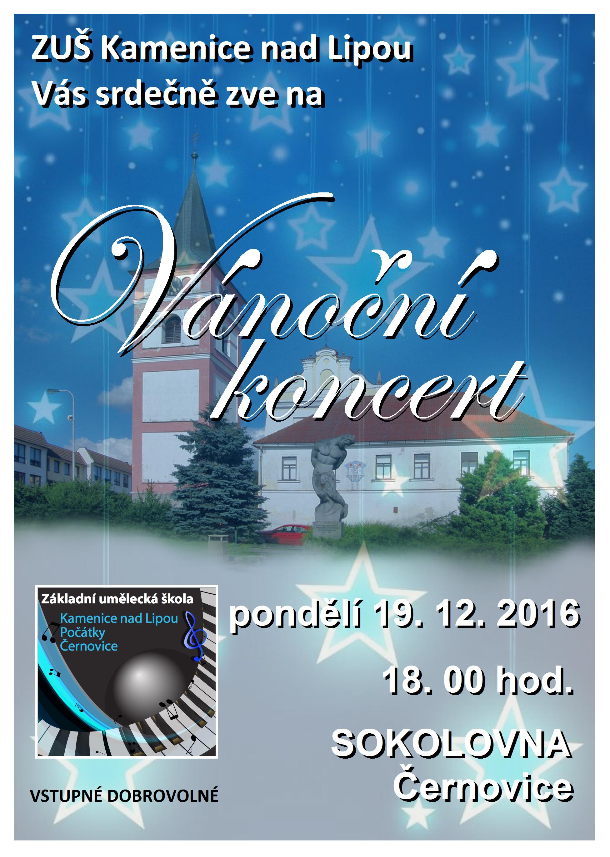 19. 12. 2016 - VÁNOČNÍ KONCERT - ČERNOVICE