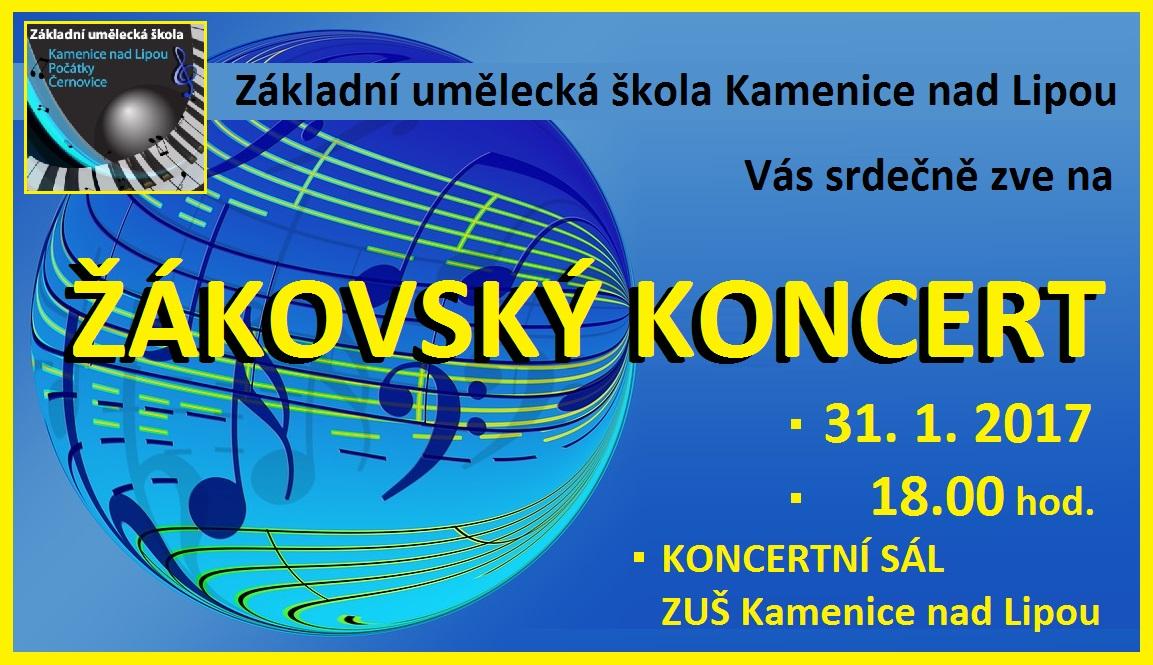 ŽÁKOVSKÝ KONCERT - 31.1.2017 KAMENICE NAD LIPOU