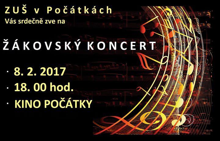 ŽÁKOVSKÝ KONCERT - 8.2.2017 POČÁTKY