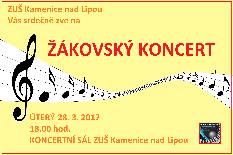 28. 3. 2017 - ŽÁKOVSKÝ KONCERT KAMENICE NAD LIPOU