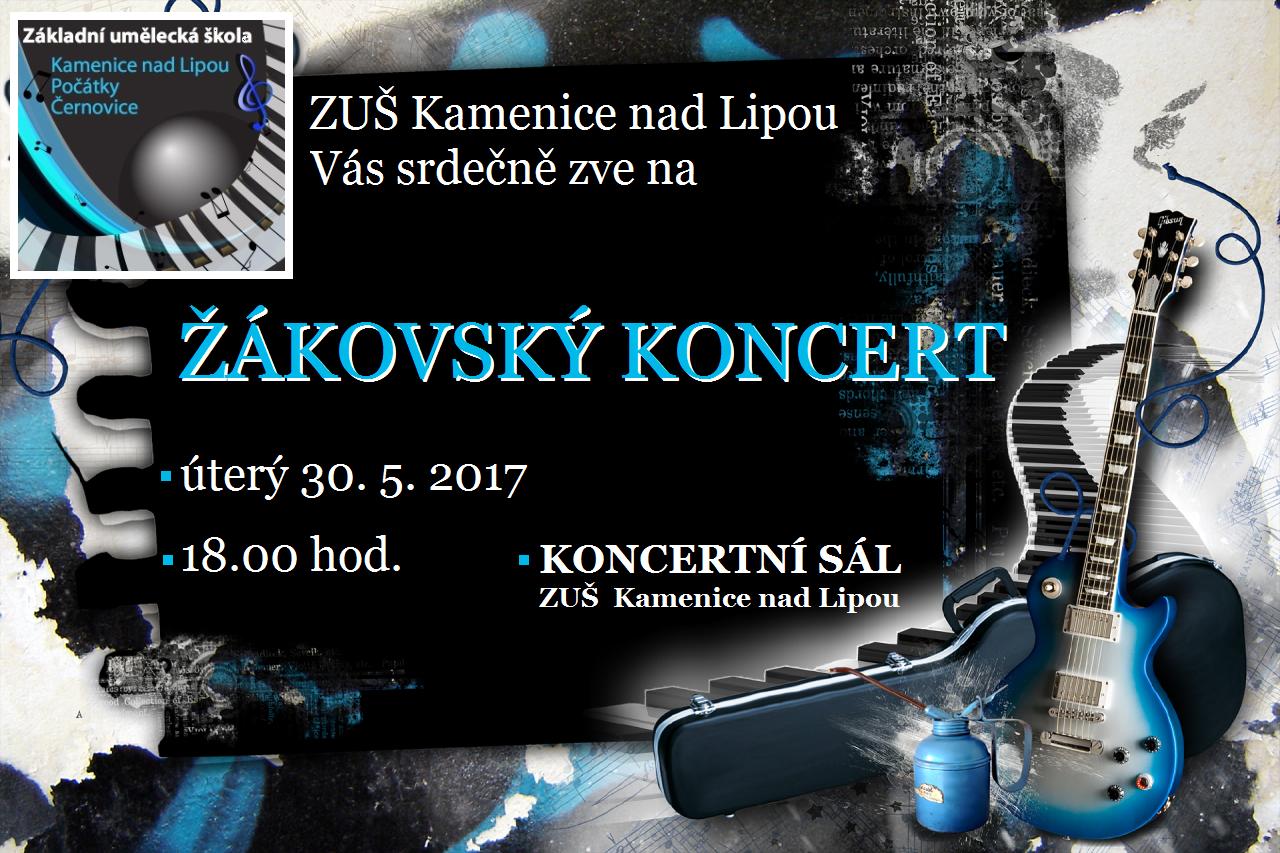 30. 5. 2017 - ŽÁKOVSKÝ KONCERT KAMENICE NAD LIPOU