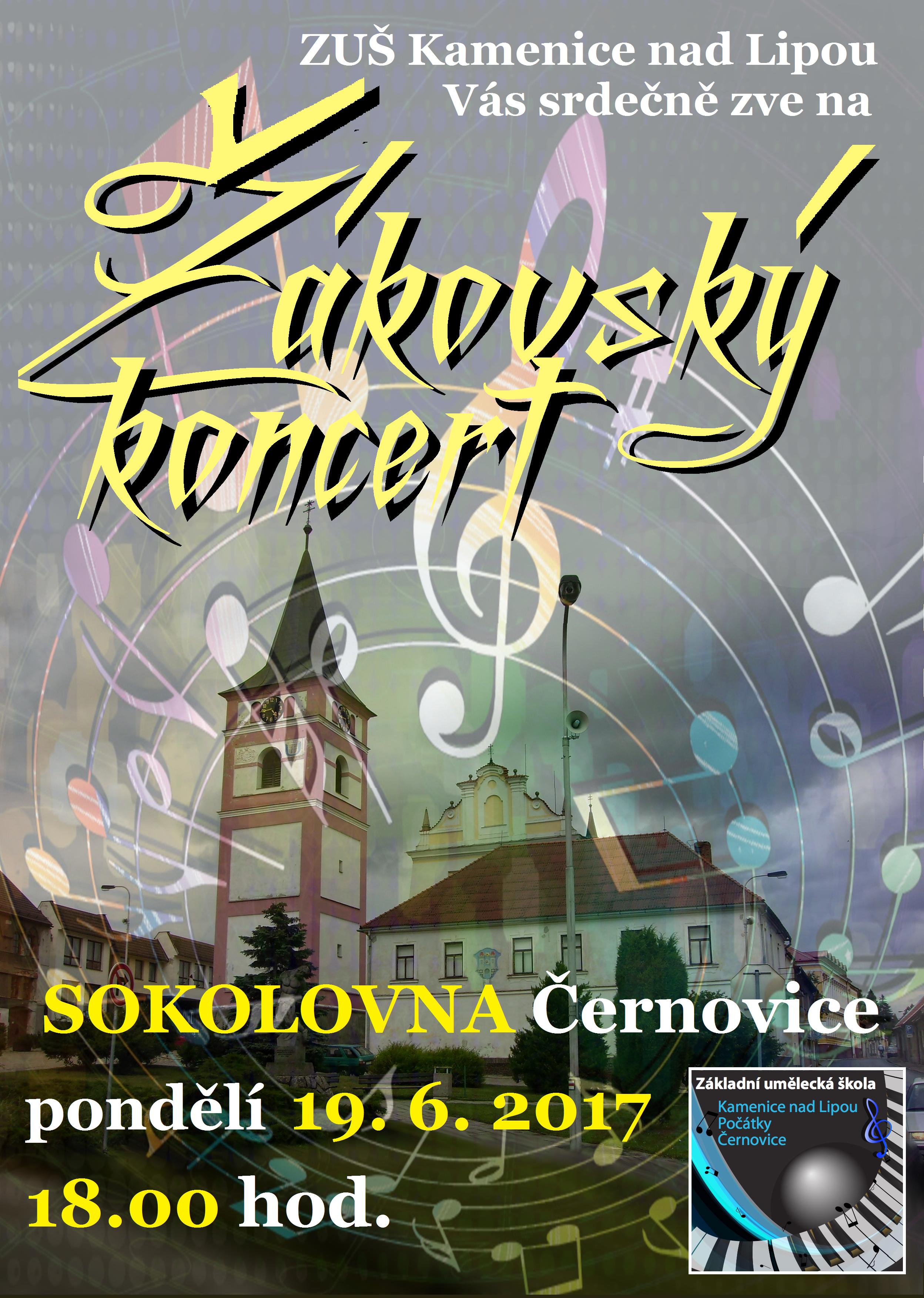 19. 6. 2017 -ŽÁKOVSKÝ KONCERT - ČERNOVICE