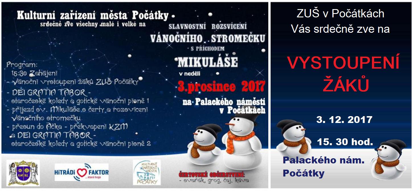 3. 12. 2017 - ROZSVÍCENÍ VÁNOČNÍHO STROMU - POČÁTKY