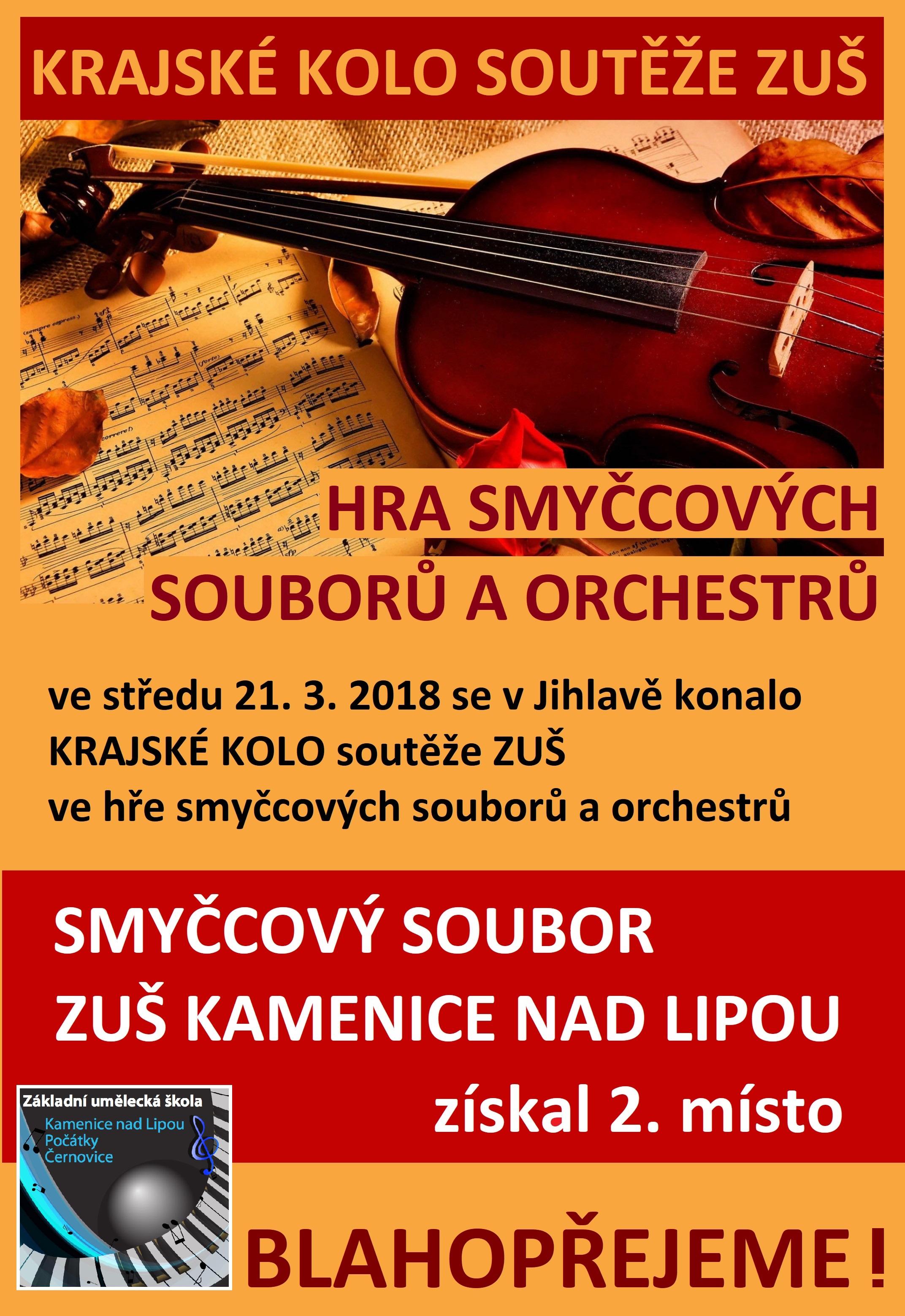 21. 3. 2018 - KRAJSKÉ KOLO - SMYČCOVÉ SOUBORY A ORCHESTRY