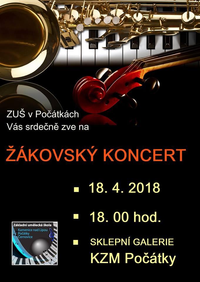 18. 4. 2018 - ŽÁKOVSKÝ KONCERT POČÁTKY