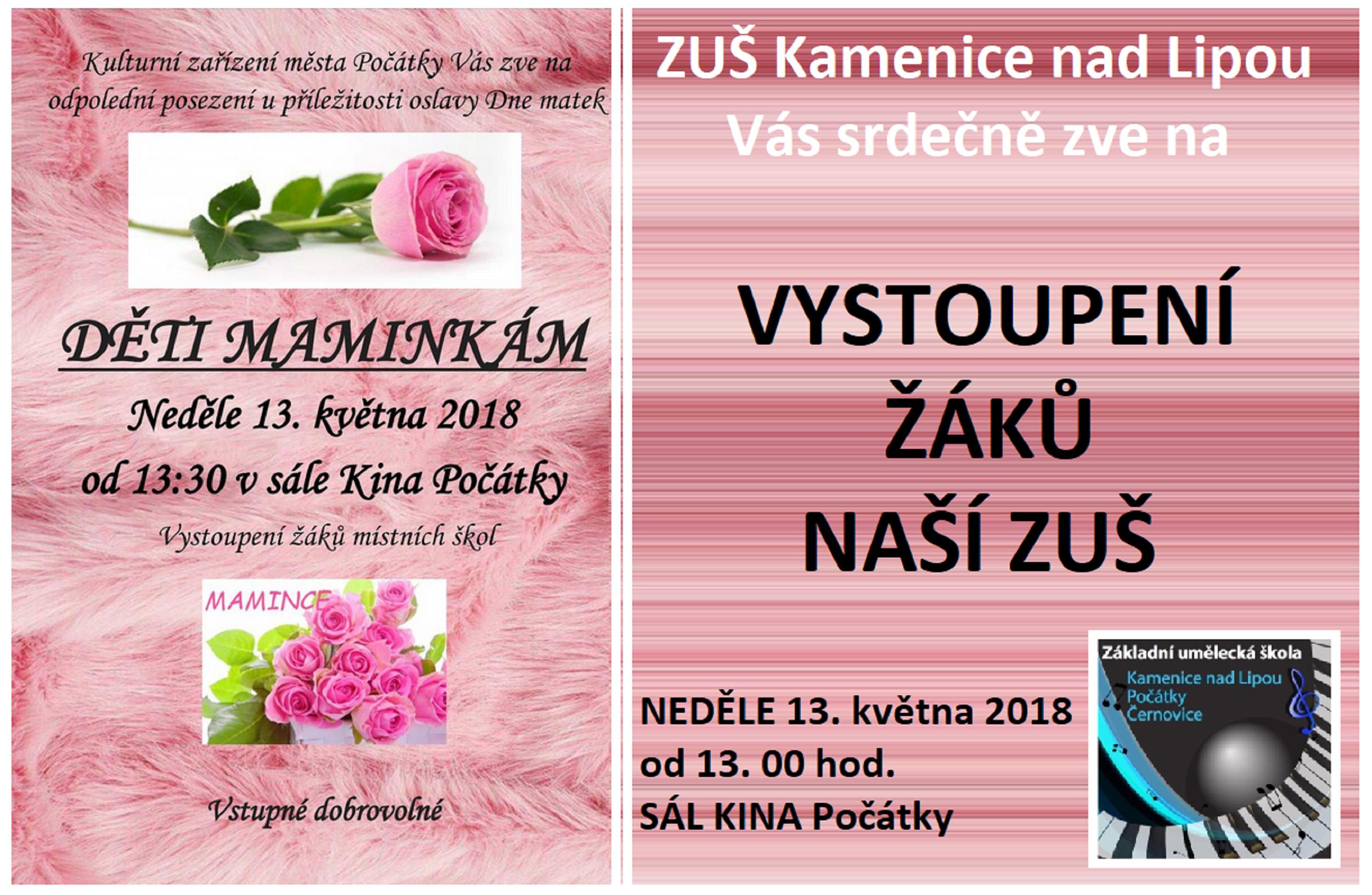 13. 5. 2018 - DĚTI MAMINKÁM - POČÁTKY