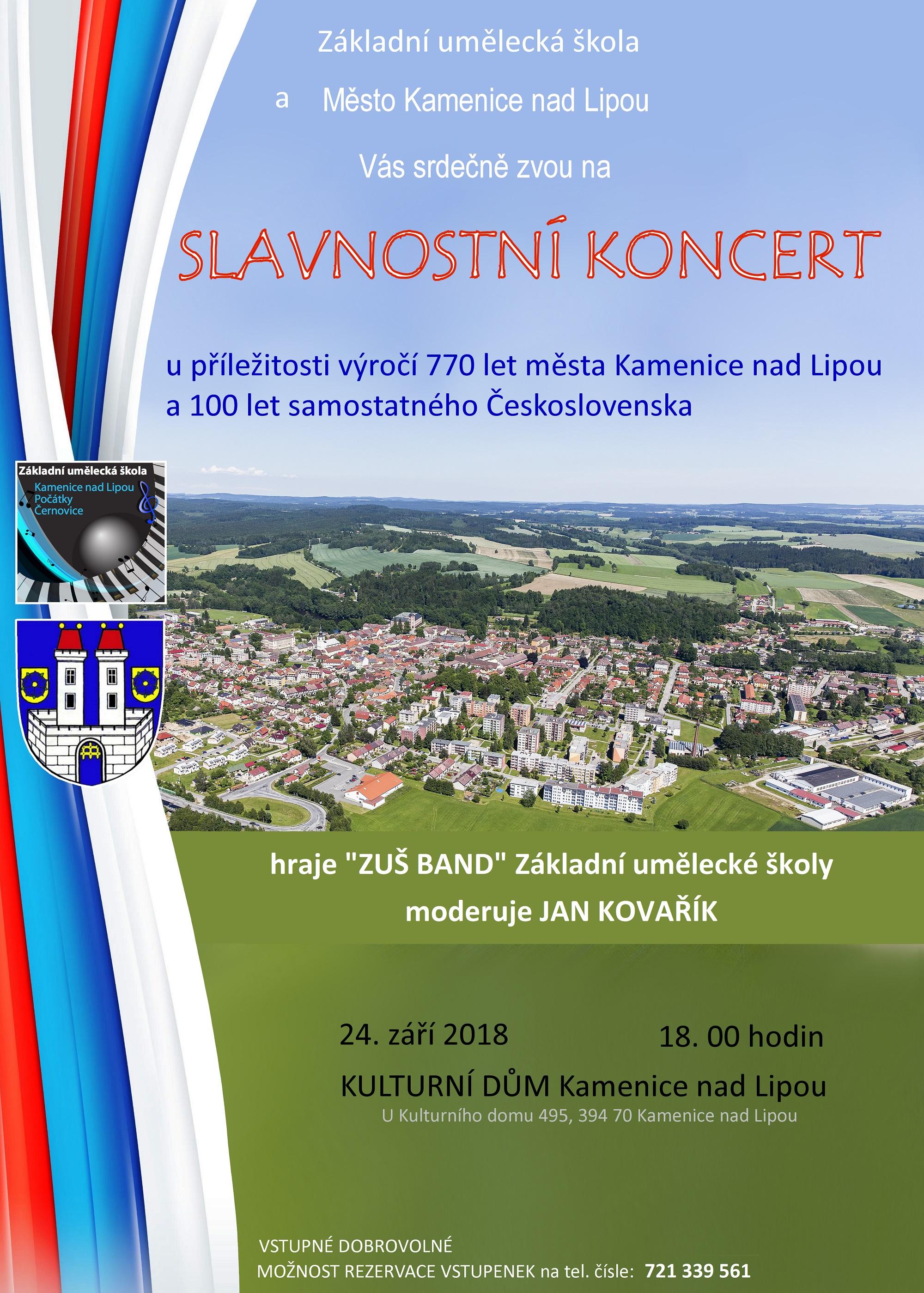 24. 9. 2018 - SLAVNOSTNÍ KONCERT - KAMENICE NAD LIPOU