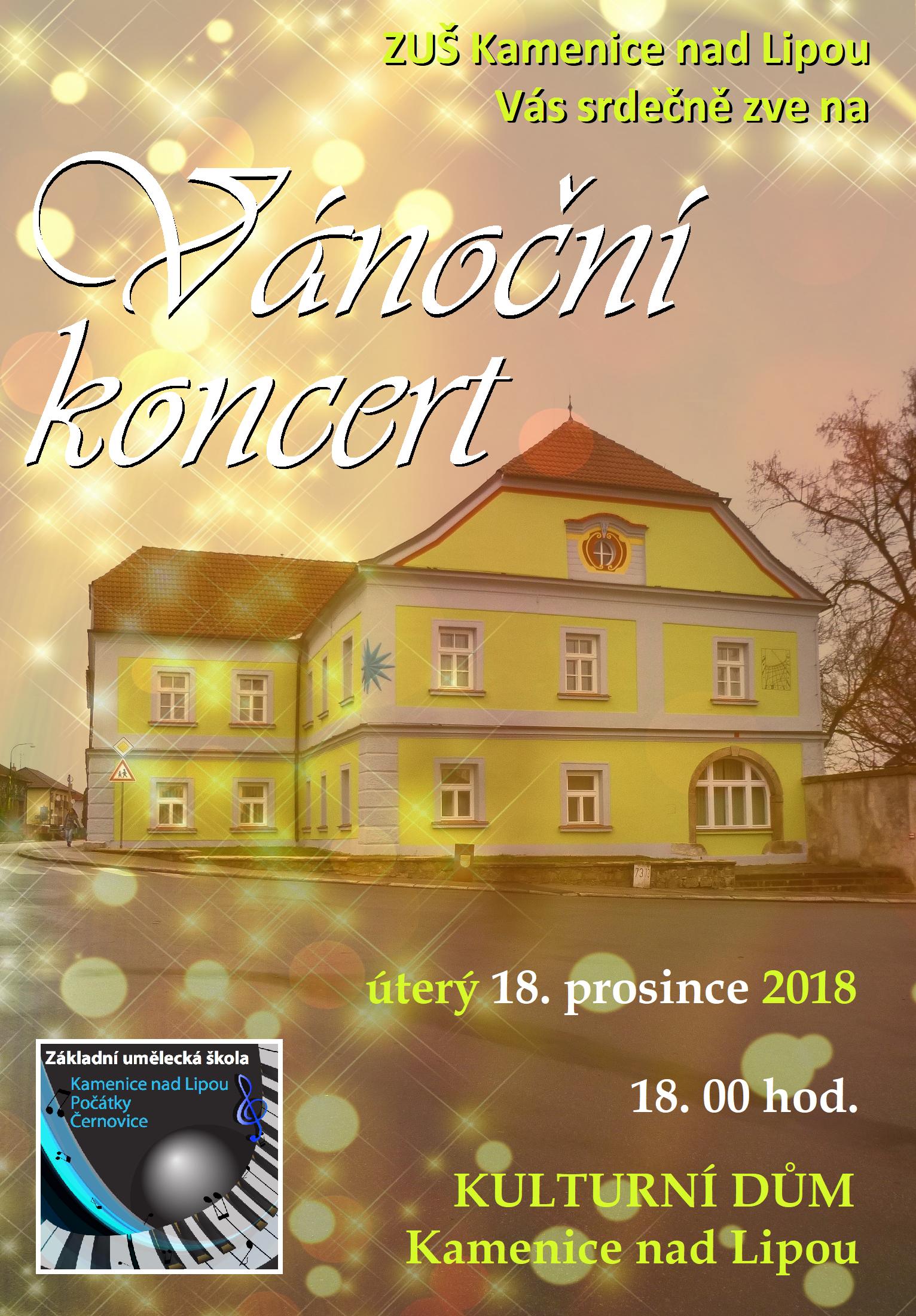 18. 12. 2018 - VÁNOČNÍ KONCERT KAMENICE NAD LIPOU