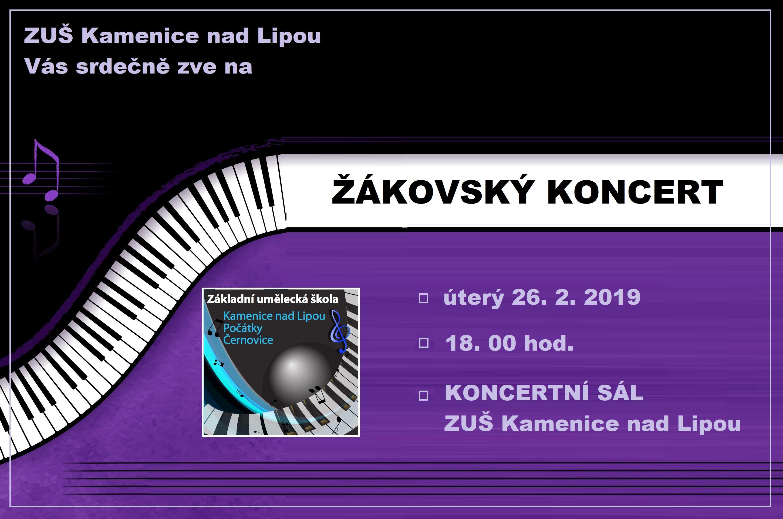 26. 2. 2019 - ŽÁKOVSKÝ KONCERT KAMENICE NAD LIPOU