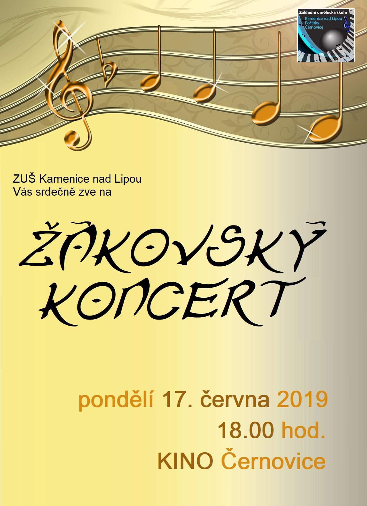 17. 6. 2019 - ŽÁKOVSKÝ KONCERT ČERNOVICE