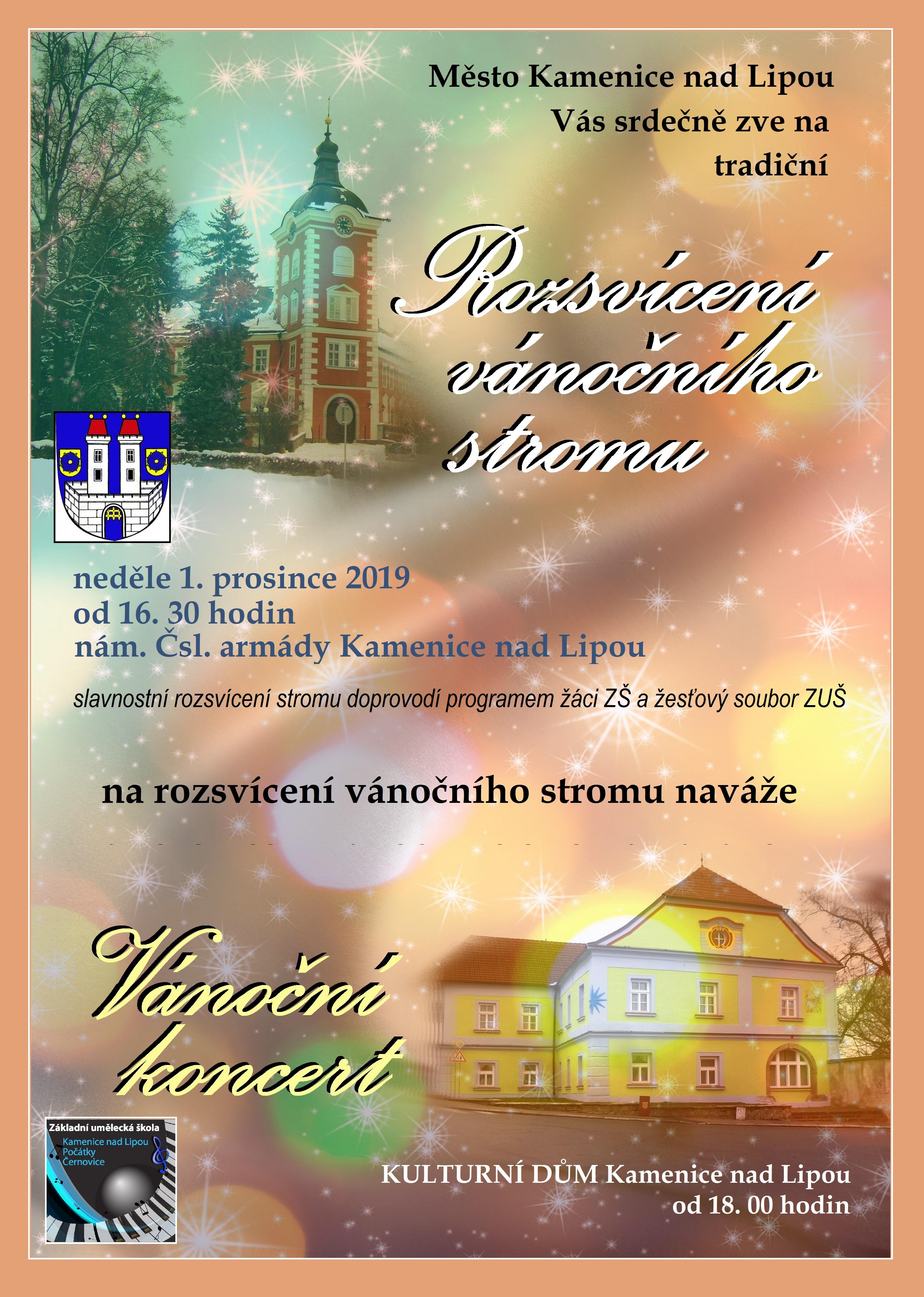 1. 12. 2019 - VÁNOČNÍ KONCERT KAMENICE NAD LIPOU