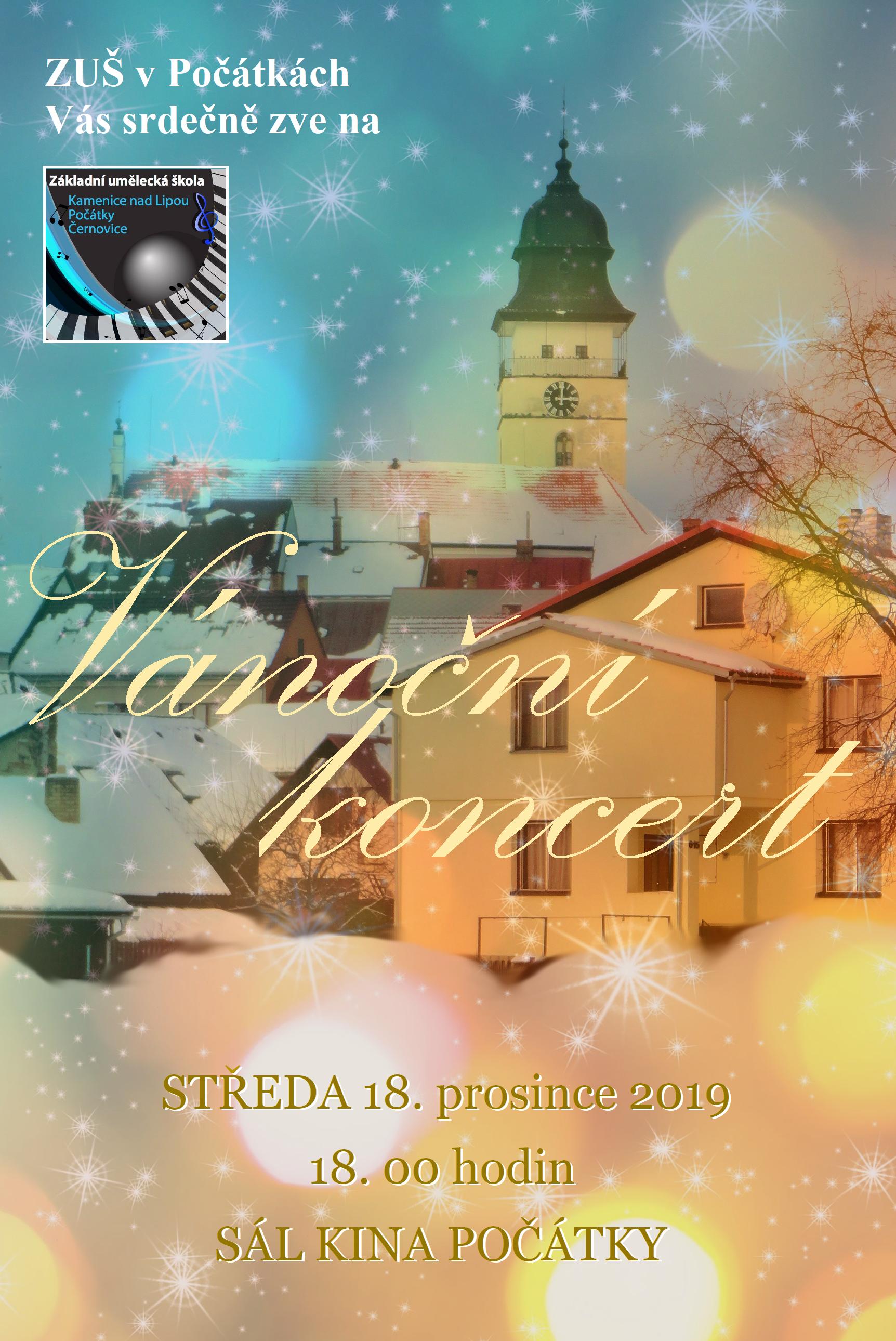18. 12. 2019 - VÁNOČNÍ KONCERT POČÁTKY