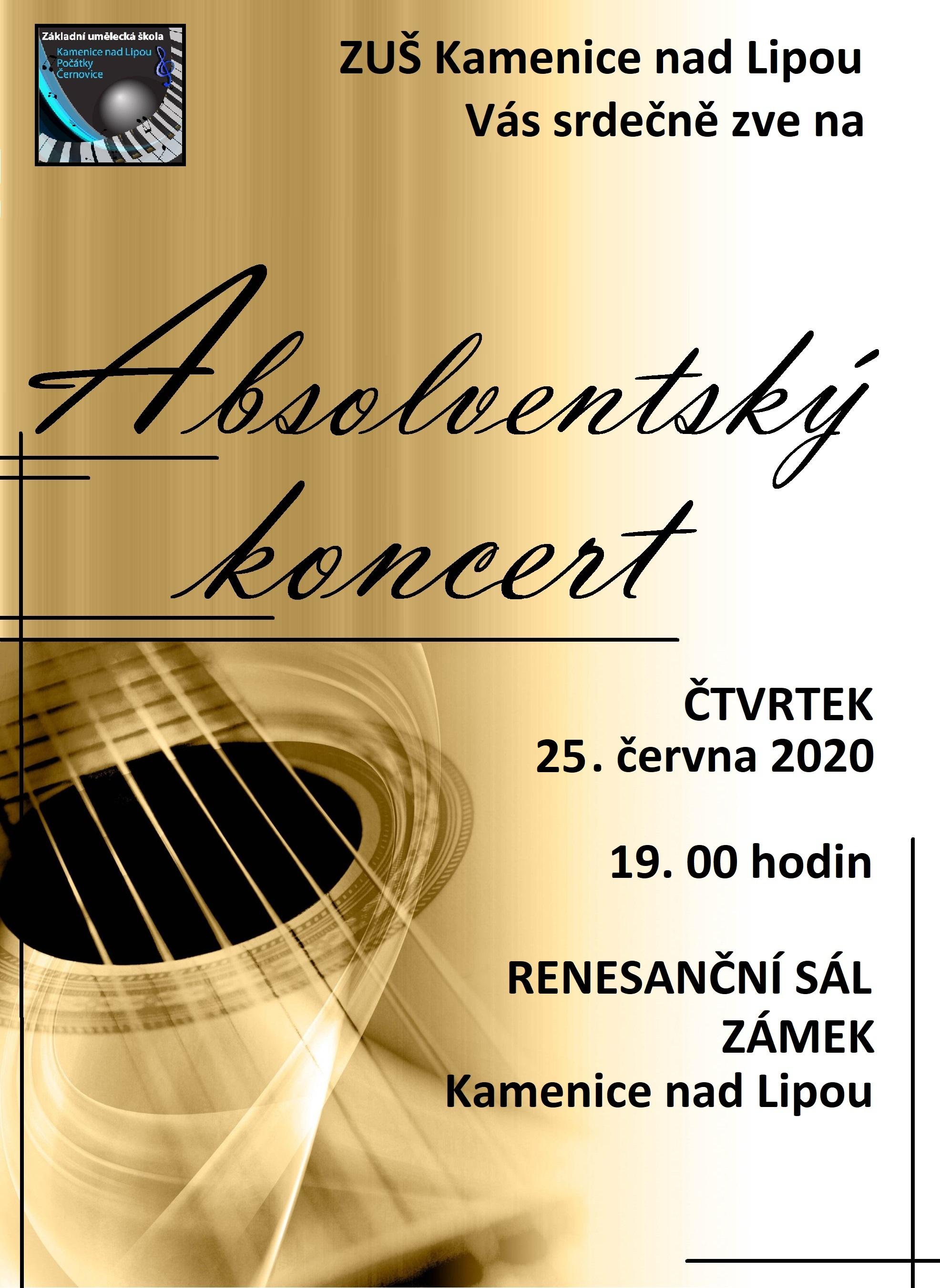 25. 6. 2020 - ABSOLVENTSKÝ KONCERT - KAMENICE NAD LIPOU