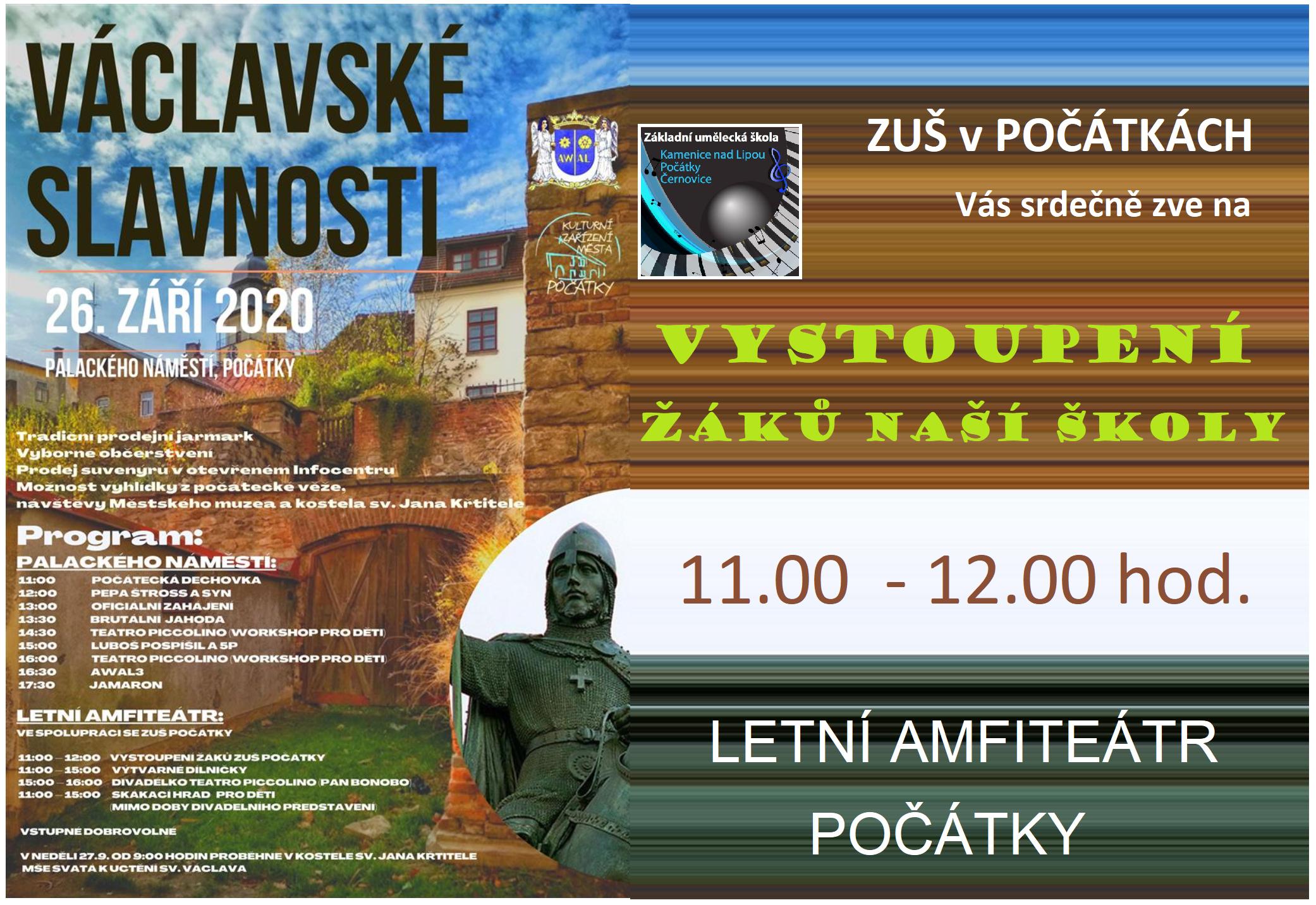 26. 9. 2020 - VÁCLAVSKÉ SLAVNOSTI POČÁTKY