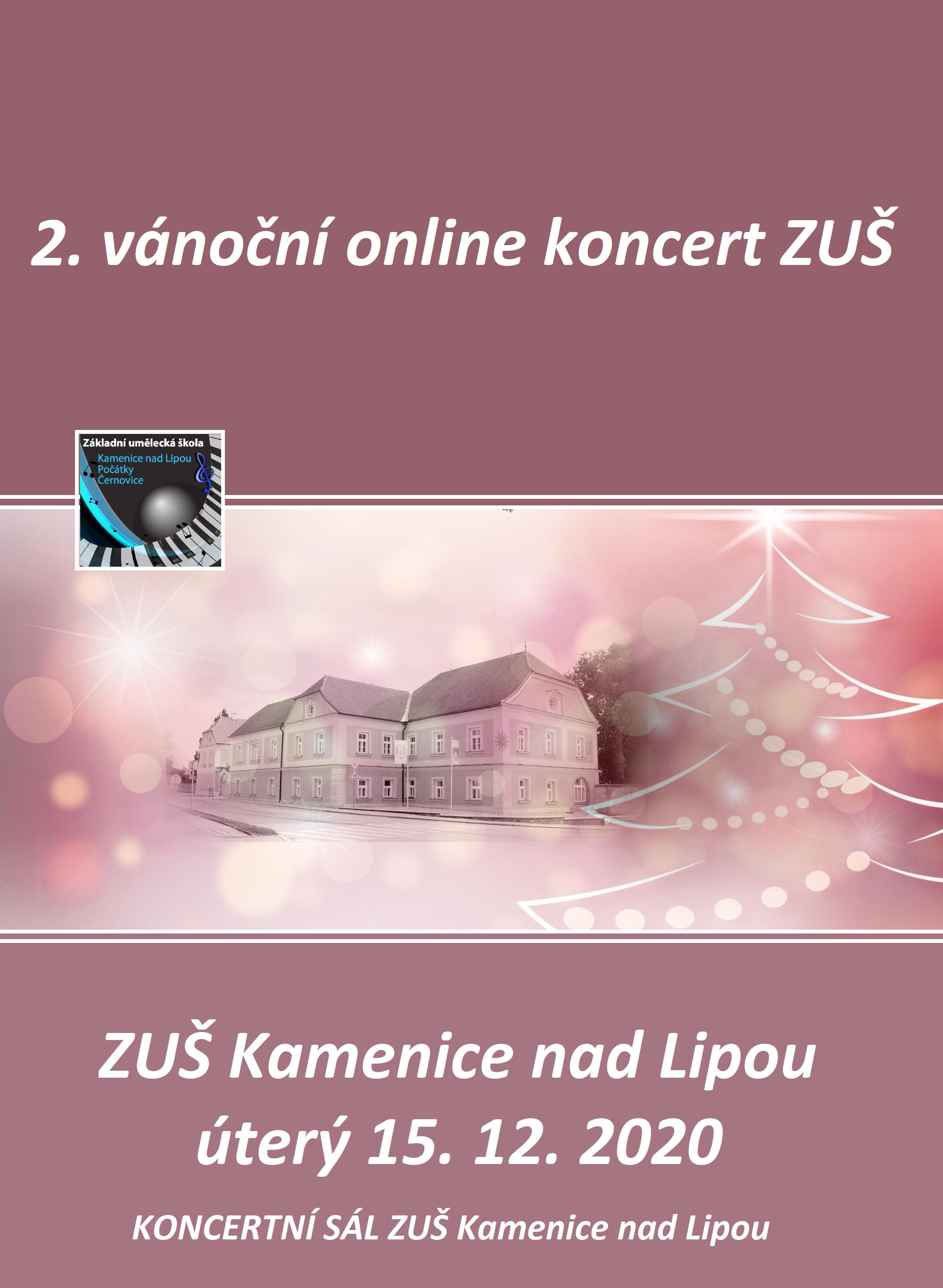 ONLINE VÁNOČNÍ KONCERT KAMENICE NAD LIPOU 2.