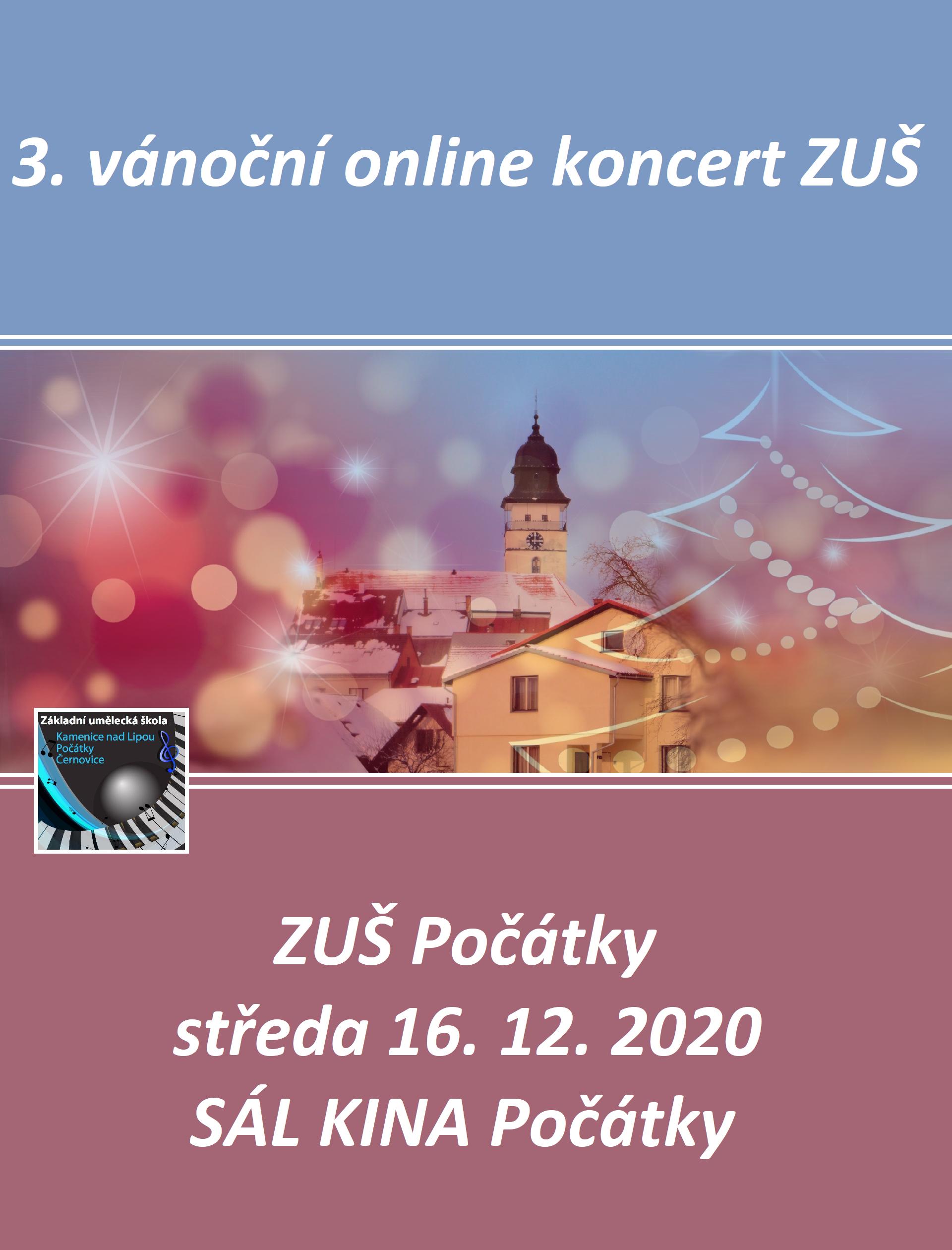 ONLINE VÁNOČNÍ KONCERT POČÁTKY 3.